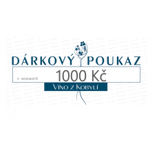 Dárkový poukaz 1000Kč  Bílá vína
