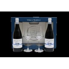 Set 2 přívlastková vína se skleničkami  Víno z kobylí - Pravda o lidech a zemi