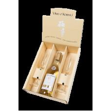 Dárkový set Frizzante Muškát Ottonel + 2 skleničky Víno z kobylí - Pravda o lidech a zemi