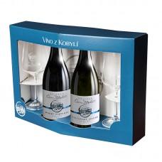Set pozdní sběry Kolekce Osm Století á 2 láhve + 2 skleničky Víno z kobylí - Pravda o lidech a zemi